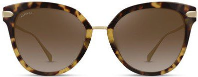 Tortoiseshell Ladies' Cap Ferrat Sunglasses-Aspinal Of London