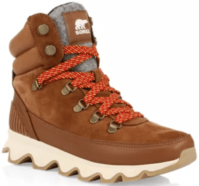 Velvet Tan Kinetic Conquest Suede Lace-Up Boots-Sorel