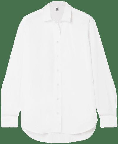 White Capri Cotton-Poplin Shirt