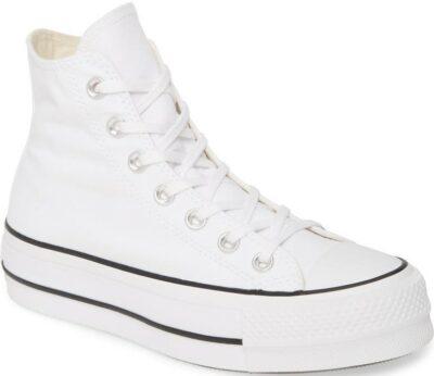 White Chuck Taylor All Star Lift High Top Platform Sneaker-Converse
