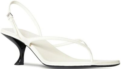 White Constance Leather Sandals-The Row