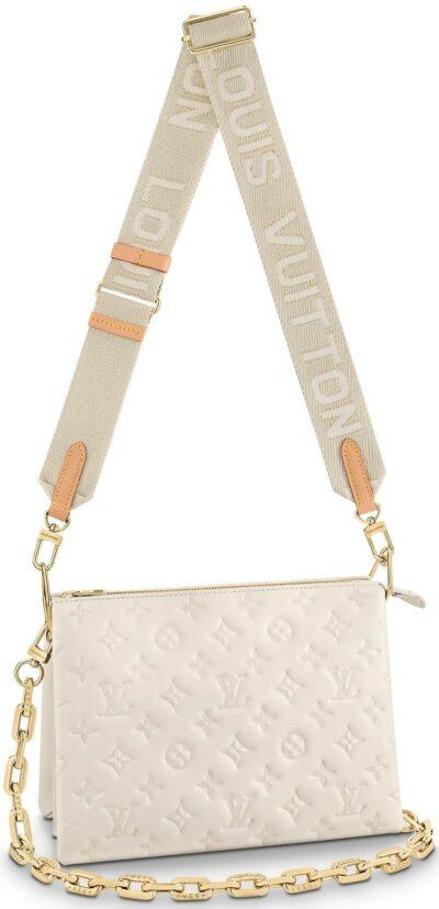 White Coussin PM Handbag-Louis Vuitton