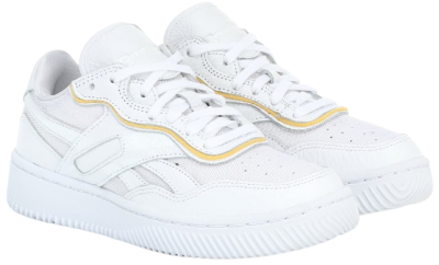 White Dual Court II Leather Sneakers
