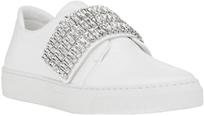 White Embellished Sneakers