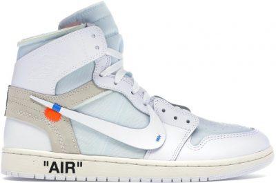 White Jordan 1 Retro Shoes-Jordan