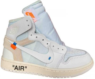 White Leather Air Jordan 1 Trainers-Nike X Off-White