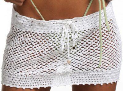 White Mini Hottie Skirt-Aquaviva Swim