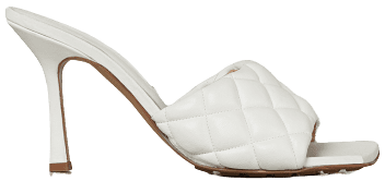 White Padded Sandals-Bottega Veneta