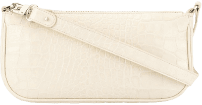 White Rachel Croco effect Shoulder Bag