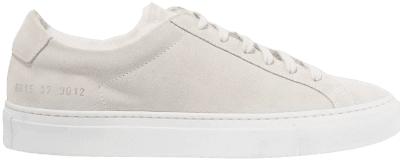 White Retro Low Suede Sneakers