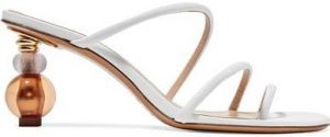 White Sphere Heel Strappy Mules-Jacquemus