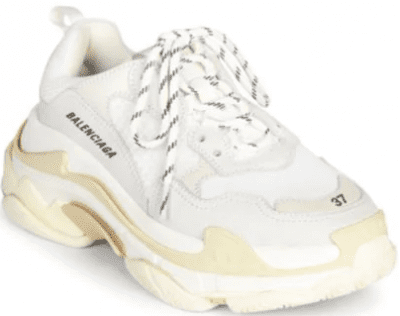 White Triple S Sneakers-Balenciaga