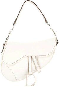 White Trotter Saddle Bag-Christian Dior