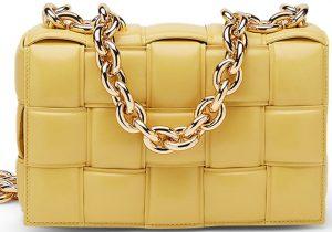 Yellow The Chain Cassette Cross-Body Bag-Bottega Veneta