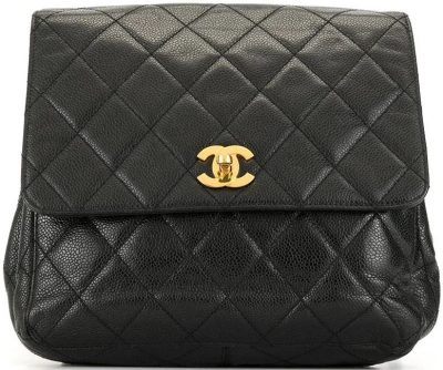 1990s CC Turn-Lock Flap Backpack-Chanel