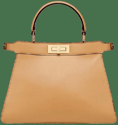 Beige Peekaboo I See U Leather Bag-Fendi
