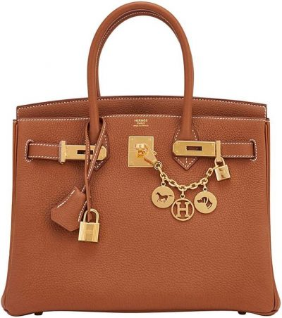 Birkin 30cm Tan Togo Gold Hardware Bag-Hermes