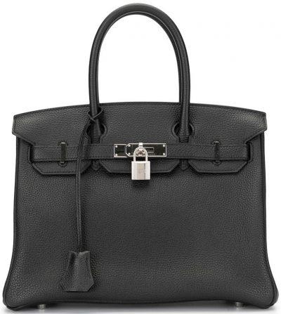 Black 2016 Pre-Owned Birkin 30 Bag-Hermès