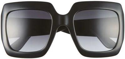 Black 54mm Square Sunglasses-Gucci