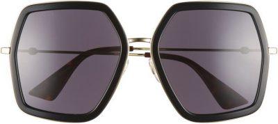 Black 56mm Sunglasses-Gucci