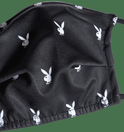 Black And White Bunny Logo Mask