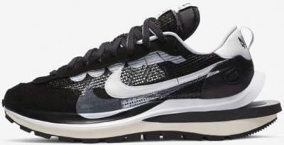 Black And White VaporWaffle Shoe-Nike X sacai