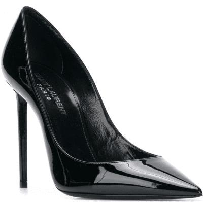 Black Anja Pointed-Toe Pumps