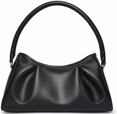 Black Dimple Shoulder Bag