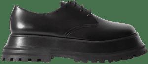 Black Guild Leather Platform Brogues-Burberry