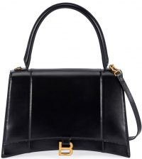 Black Hour Medium Leather Top-Handle Bag-Balenciaga