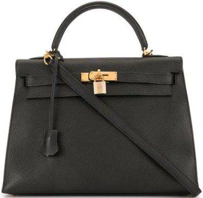 Black Kelly 32 Handbag-Hermes
