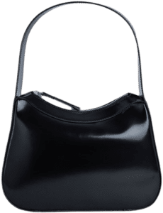 Black Kiki Semi Patent Leather-By Far