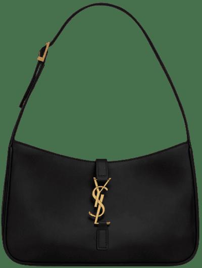 Black Le 5 À 7 Hobo Bag-Saint Laurent