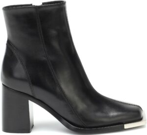Black Leather Ankle Boots-Peter Do