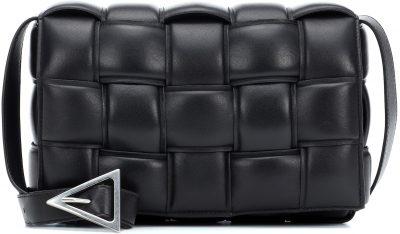 Black Padded Cassette Leather Shoulder Bag-Bottega Veneta