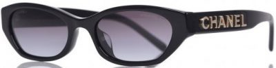 Black Rectangle Sunglasses-Chanel