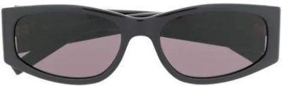 Black Signature Oval Frame Sunglasses