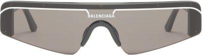 Black Ski Flat-Top Acetate Sunglasses