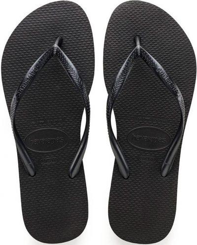 Black Slim Flip Flop-Havaianas