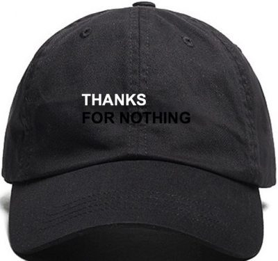 Black Thanks For Nothing Dad Hat-J-Frost