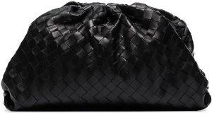 Black The Pouch Intrecciato Bag-Bottega Veneta