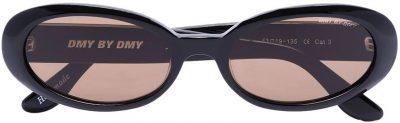 Black Valentina Oval-Frame Sunglasses-DMY BY DMY