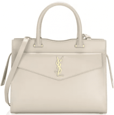 Blanc Small Uptown Leather Satchel