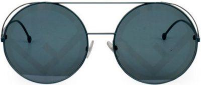 Blue Fendirama Round Sunglasses-Fendi