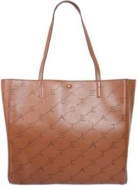 Brown Small Tote Bag With Monogram-Stella McCartney