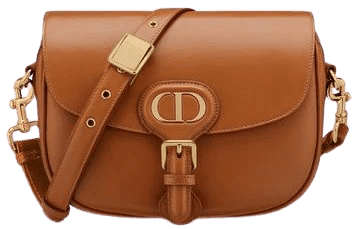 Camel Box Calfskin Bobby Bag