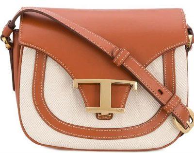 Canvas Leather Crossbody Bag