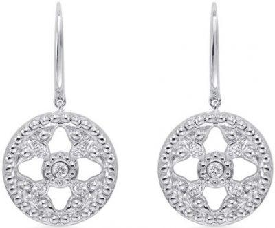 Empress 18Ct White Gold Diamond Drop Earrings-Mappin & Webb