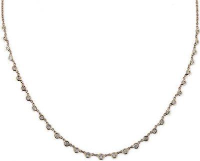 Gold 31 Diamond Bezel Emily Necklace-Jacquie Aiche