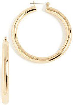 Gold Amalfi Tube Earrings-Luv Aj